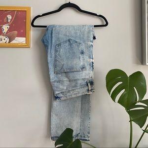 H&M Distressed Light Blue Jeans